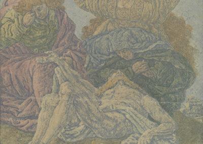 De bewening van Christus (ca 1631), lijnets met plaattoon en hooglichten, collectie Rijksmuseum Amsterdam