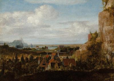 Rivierdal met huizen (ca 1625), olieverf op doek, collectie Museum Boijmans van Beuningen